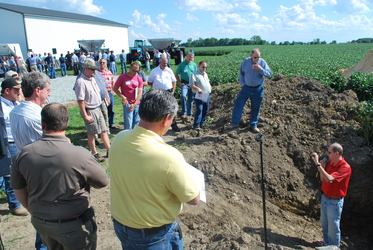 Soil Pit Demonstration at Rulon Enterprises led by Dr. Darrell Norton.